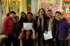 Entrega de diploma Mtra. Diana Olalde, Mai Elissalt, Erick Puertas.