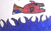 """""""Primero dibujo antes de ver pescado auténtico"""""""
